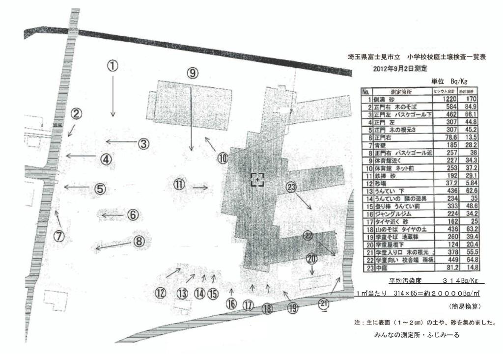 99999 埼玉県富士見市内 校庭土壌検査その99